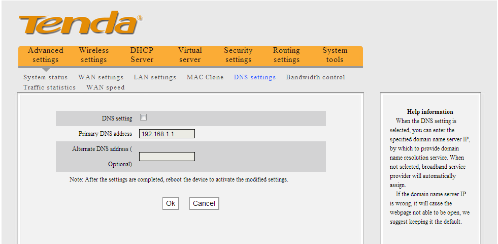 how to change dns settings tp link